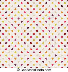prikker, polka, seamless, baggrund