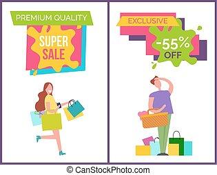 prima, calidad, mejor, venta, vector, ilustración