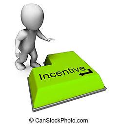 prima, prima, incentivo, llave, recompensa, o, exposiciones