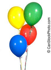 primair, gekleurde, feestje, ballons