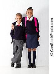 primaire, élèves, deux
