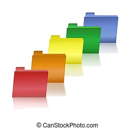 Primary Colored File Folders