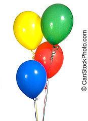 Primary Colored Party Balloons - Primary colored party...