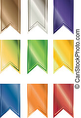 Primary Colored Pendant Banners - A Set of Multi-colored...