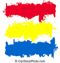Primary colors abstract banners