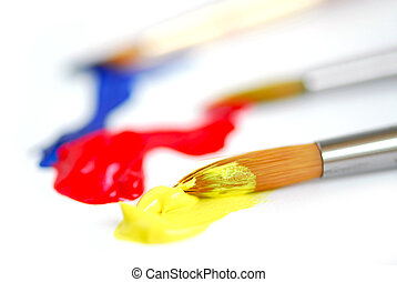 Primary colors paintbrush