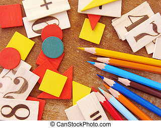 primary education - educational tools set for primary school...