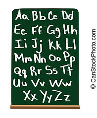 Primary school alphabet - Alphabet in capital and lower case...