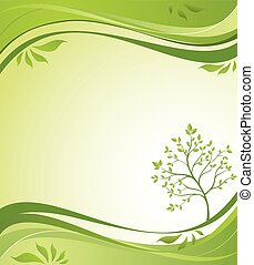 primavera, árvore, fundo