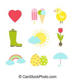 primavera, ícones