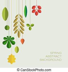 primavera, abstratos, floral, fundo, com, lugar, para, seu, texto