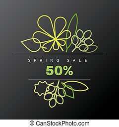 primavera, abstratos, floral, fundo, venda, etiqueta