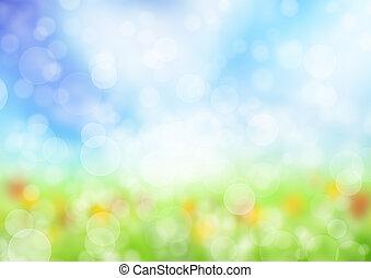 primavera, abstratos, fundo, borrão