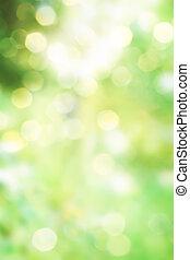 primavera, abstratos, verde, fundo, natureza