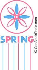 primavera, agradável, símbolo, abstratos