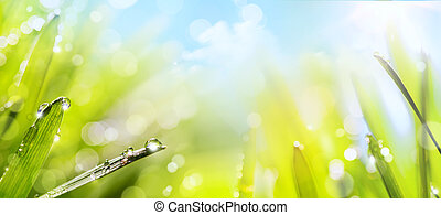 primavera, arte abstracto, plano de fondo, naturaleza