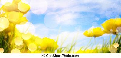 primavera, arte, fondo
