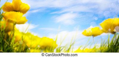 primavera, arte, fundo