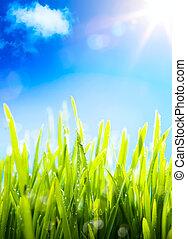 primavera, arte, Plano de fondo, naturaleza