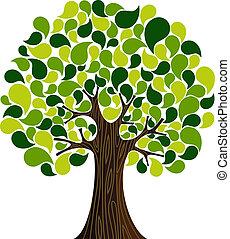 primavera, astratto, albero, tempo