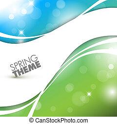 primavera, astratto, vettore, fondo