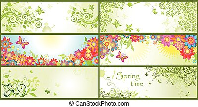 primavera, banderas horizontales
