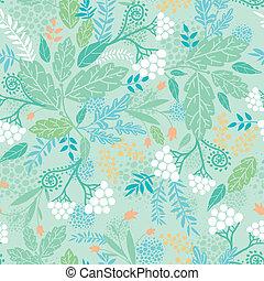 primavera, bayas, seamless, patrón, plano de fondo