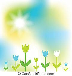 primavera, cartão