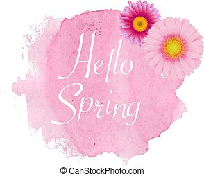 primavera, cartaz, gerber