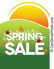 primavera, cartaz venda