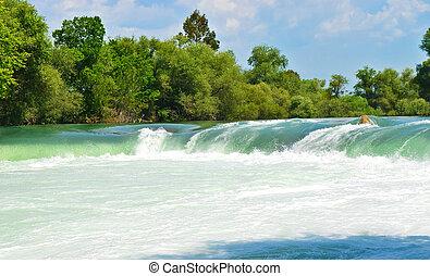 primavera, cascata, manavgat, in, tacchino