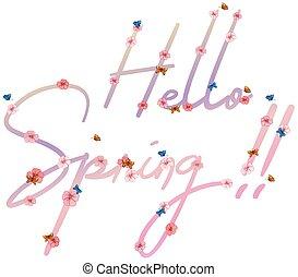 primavera, ciao, testo