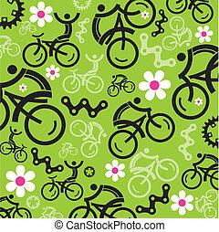 primavera, ciclismo, decorativo, backgroun
