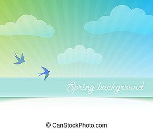 primavera, cielo