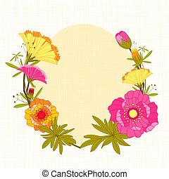 primavera, colorido, flor, backgrou