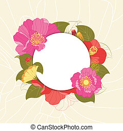 primavera, colorido, flor, tarjeta de felicitación