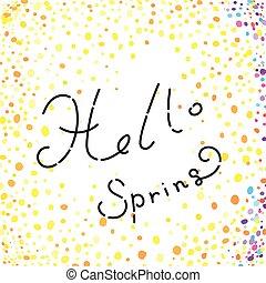 primavera, concepto, hola