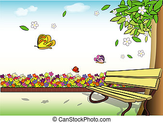 primavera, detalle, tiempo