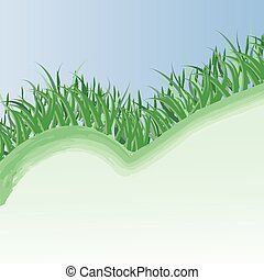 primavera, erba, fondo