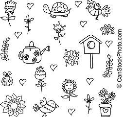 primavera, estoque, cobrança, doodle