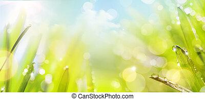 primavera, Extracto, arte, Plano de fondo, naturaleza