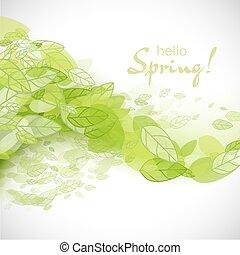 primavera, Extracto, Plano de fondo