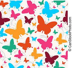 primavera, farfalla, modello