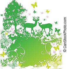 primavera, fauna, paese