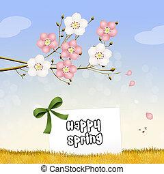 primavera, feliz