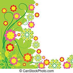 primavera, fiore, cartolina auguri