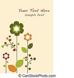 primavera, flores coloridas, flor, plantilla, diseño, -1