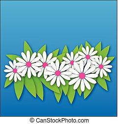 primavera, flores coloridas, patrón