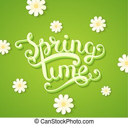 primavera, flowers., concetto, tempo