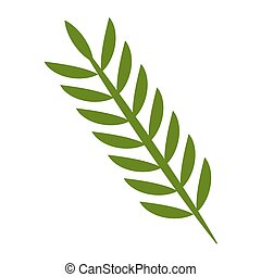 primavera, foglie, naturale, verde, ramo